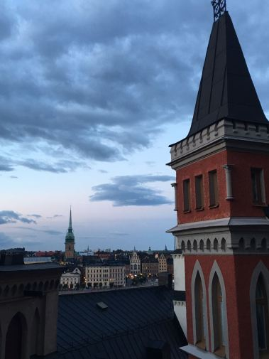 Evening towers in Stockholm.