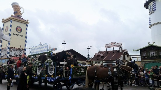 Horse-drawn floats ring in the 183rd Oktoberfest!