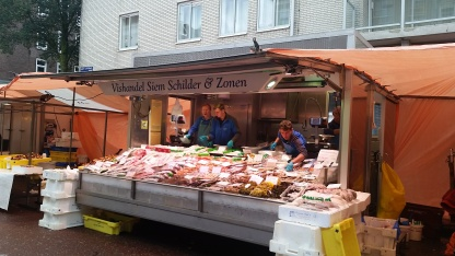A family-run fishmonger in the Albert Cuyp Market
