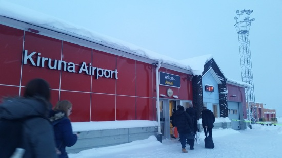 The bustling hub of Kiruna, with two airlines running flights to Stockholm. And thats it.