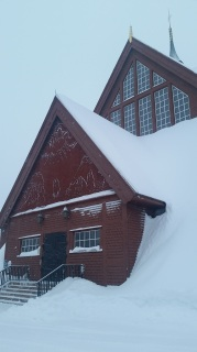Voted most beautiful church in Sweden, that snow-filled carving makes me agree