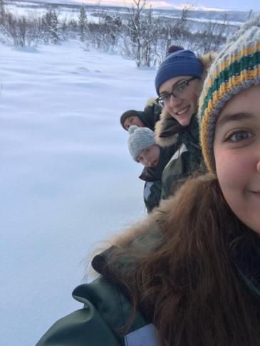 Snowshoe selfies