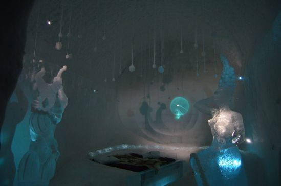 "The Ice Hotel's ""Art Suites"" were all unique and stunning"